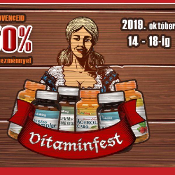 VitaminFest – kedvenc vitaminjaid akár féláron