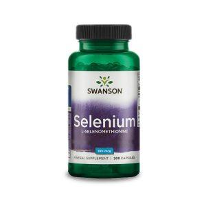 Swanson Szelén (szerves; L-szeleno-metionin) 100 µg (200 kaps)